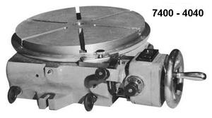 7400-4040  Стол поворотный делительный простой с оптической системой отсчета