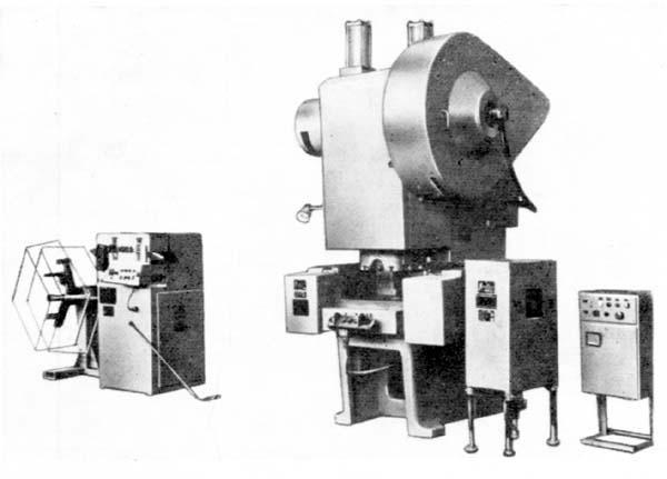 Коиплекс для штамповки деталей из ленточного материала с валковой подачей АККД2128Е.07 Пресс КД2128К Разматывающее...